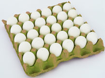 30 pieces one parcel white egg pictures Royalty Free Stock Photos