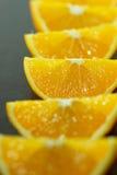 Pieces of orange Stock Photos