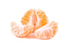 Pieces of orange tangerine. Over white background Stock Photo