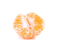 Pieces of orange tangerine. Over white background Stock Images