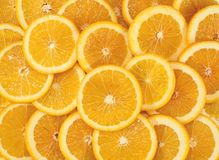 Pieces of oranges Royalty Free Stock Images