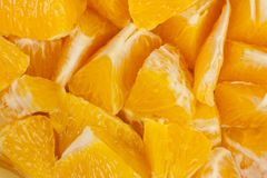 Pieces of oranges Royalty Free Stock Photo