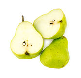 Pieces of organic Australia sliced green pear Royalty Free Stock Images