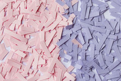pieces of paper in pink and purple colors Stock Images