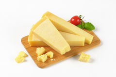 Pieces of parmesan cheese Stock Images
