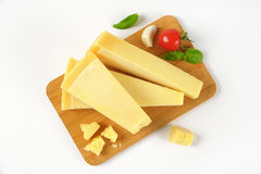 Pieces of parmesan cheese Stock Photos