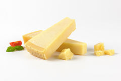 Pieces of parmesan cheese Royalty Free Stock Image