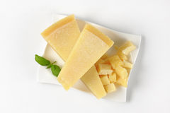 Pieces of parmesan cheese Stock Photo