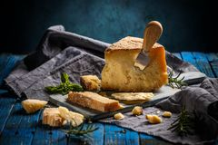 Parmesan cheese, still life royalty free stock photography