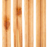 Pieces of pine slats. On white background Stock Photo