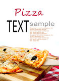 Pieces of pizza Stock Image