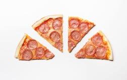 pieces pizza Fotografering för Bildbyråer
