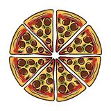 Pieces of pizza, sketch for your design Royalty Free Stock Photos