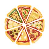 Pieces of pizza, sketch for your design Royalty Free Stock Images