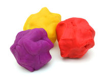 Pieces of plasticine Royalty Free Stock Images