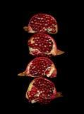 pieces pomegranaten Royaltyfri Fotografi