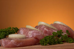 Pieces  of pork Royalty Free Stock Image