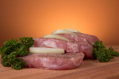 Pieces  of pork Royalty Free Stock Photo