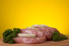 Pieces  of pork Royalty Free Stock Images