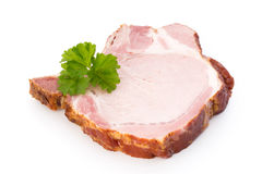 Pieces of pork meat, isolated on white background. Royalty Free Stock Images