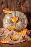Pieces of pumpkin pie Stock Photo