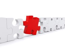 Pieces of a puzzle Royalty Free Stock Photos