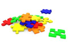 Pieces of a puzzle Stock Photos