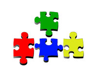 Pieces puzzle Stock Photo