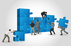 Pieces of a puzzle Stock Image