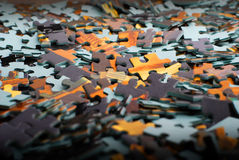 Pieces of puzzle Stock Photos