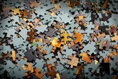 Pieces of puzzle Stock Images