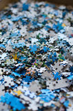 Pieces of puzzle Royalty Free Stock Photo