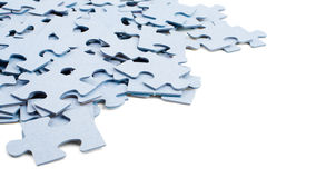 Pieces of puzzle isolated on white Royalty Free Stock Image