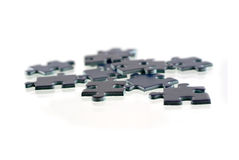 Pieces of puzzle, isolated on white background Royalty Free Stock Image