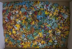 A lot and pieces of a puzzle royalty free stock photo