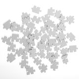 Pieces of puzzle upturned Royalty Free Stock Photo