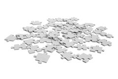 Pieces of puzzle upturned Royalty Free Stock Image