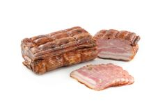 Bacon on a white background Royalty Free Stock Images