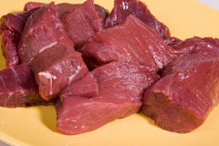 Pieces of raw beef Royalty Free Stock Photos
