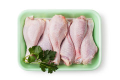 Pieces of raw chicken meat Stock Photo