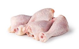 Pieces of raw chicken meat Stock Photos