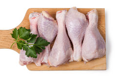 Pieces of raw chicken meat Royalty Free Stock Image