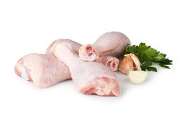 Pieces of raw chicken meat stock photography
