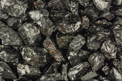 Pieces of raw coal Royalty Free Stock Photo