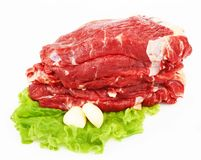 The pieces of raw fillet steaks Stock Photo