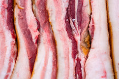 Pieces of raw meat. On the counter Royalty Free Stock Photos