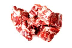Pieces of raw meat isolated. Pieces of raw meat  isolated on white Stock Image