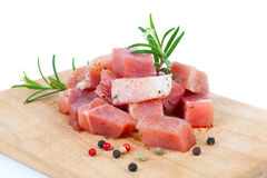 Pieces of raw meat Stock Photo