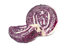 Pieces of red cabbage Stock Photography