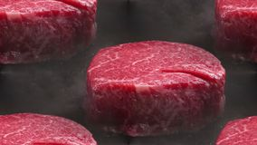 Pieces of red meat royalty free stock photography